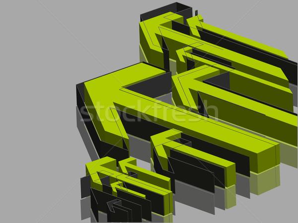 3D 抽象的な 緑 ベクトル 技術 ストックフォト © redshinestudio