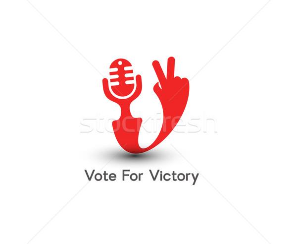 勝利 アイコン シンボル 孤立した ベクトル デザイン ストックフォト © redshinestudio