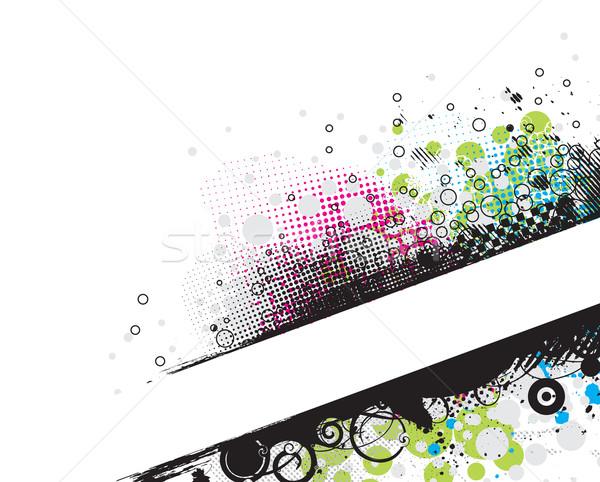 グランジ スタイリッシュ バナー スペース デザイン 塗料 ストックフォト © redshinestudio