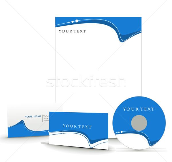 ビジネス スタイル テンプレート プロジェクト デザイン 紙 ストックフォト © redshinestudio