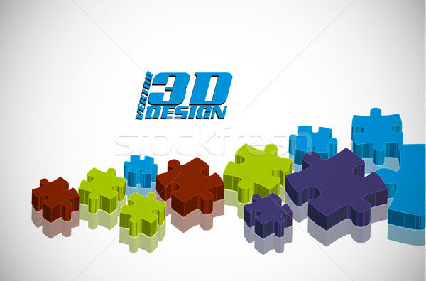 puzzle design Stock photo © redshinestudio