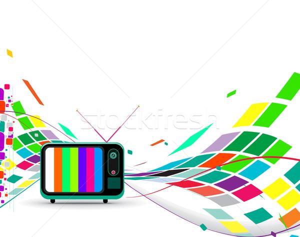 Retro television  Stock photo © redshinestudio