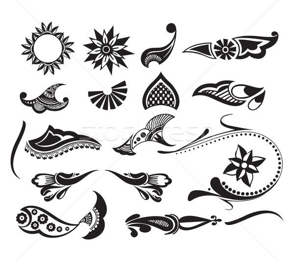 Tattoo element Stock photo © redshinestudio