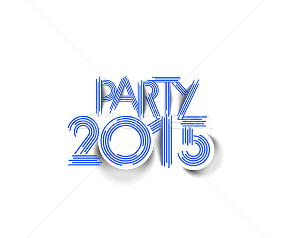 New year Party 2015 Stock photo © redshinestudio