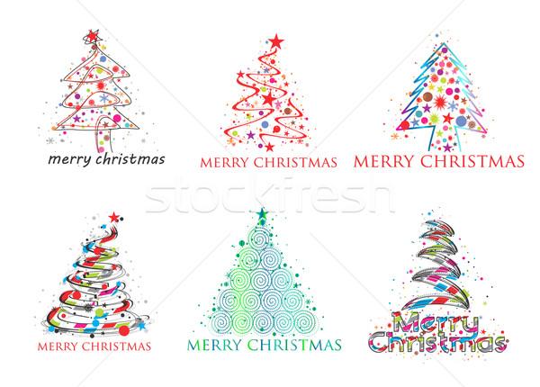 Christmas colorful design Stock photo © redshinestudio