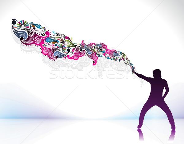 magician create a magic power Stock photo © redshinestudio