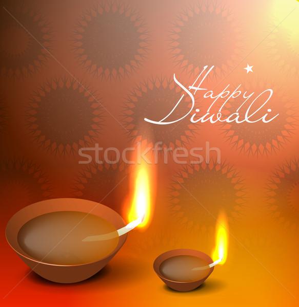 Stock fotó: 3D · terv · vektor · diwali · fesztivál · tűz