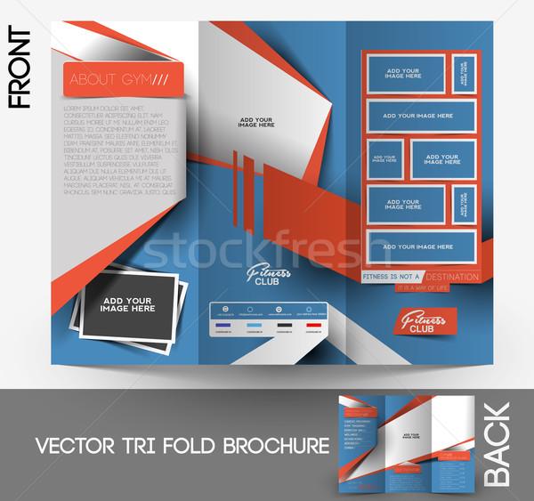 Fitness Center Tri-Fold Brochure Stock photo © redshinestudio