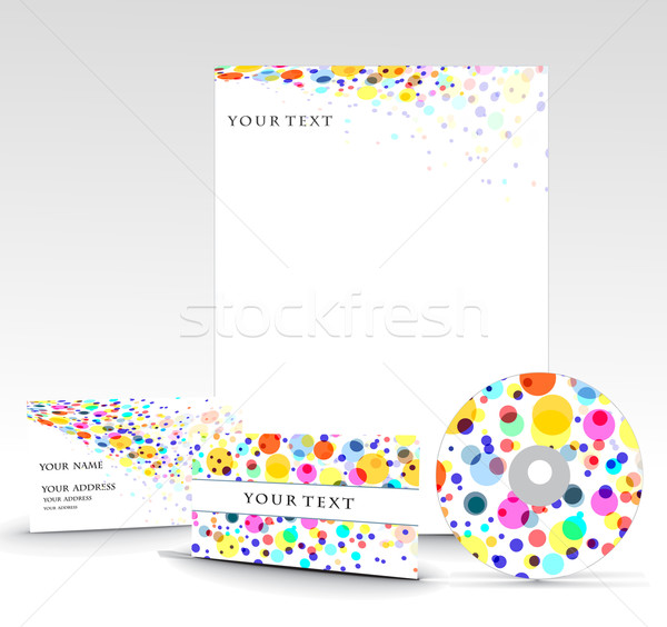 Business style templates Stock photo © redshinestudio