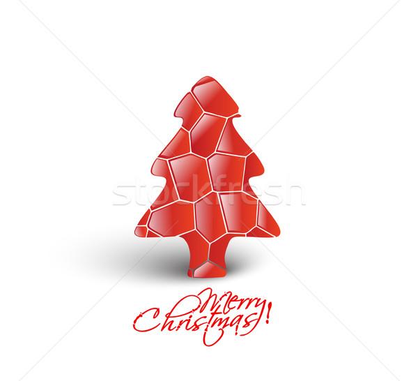 Modern Christmas Tree Background Stock photo © redshinestudio