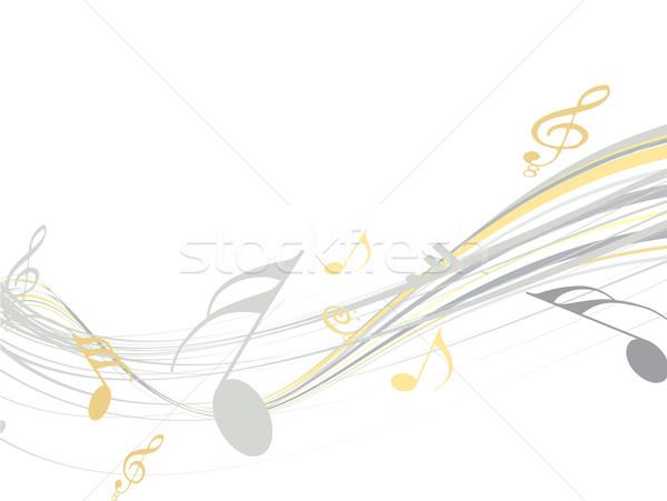 Musique plus type visiter galerie Photo stock © redshinestudio