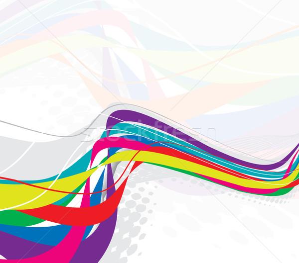 abstract rainbow wave line Stock photo © redshinestudio