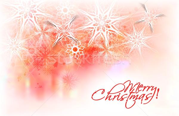 クリスマスツリー ぼかし スペース 文字 雪 芸術 ストックフォト © redshinestudio