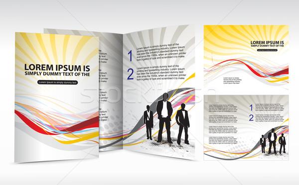 brochure design for Business Stock photo © redshinestudio