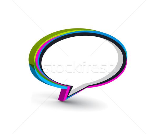 Haberci pencere ikon yalıtılmış beyaz Internet Stok fotoğraf © redshinestudio