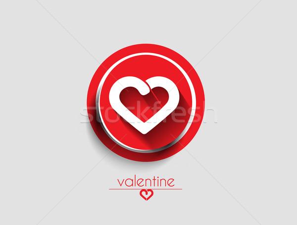 Valentine Day Heart Design Stock photo © redshinestudio