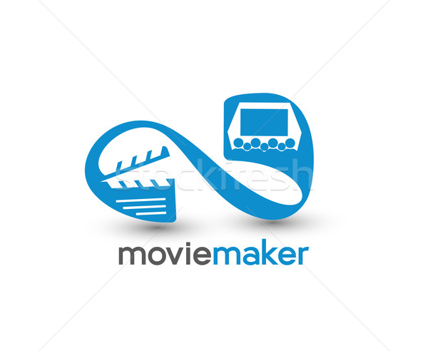 Movie maker Icon Stock photo © redshinestudio