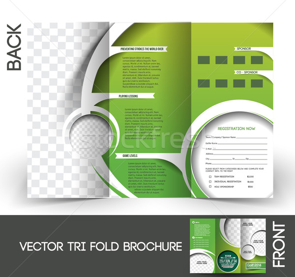 Golf torneo brochure up design abstract Foto d'archivio © redshinestudio