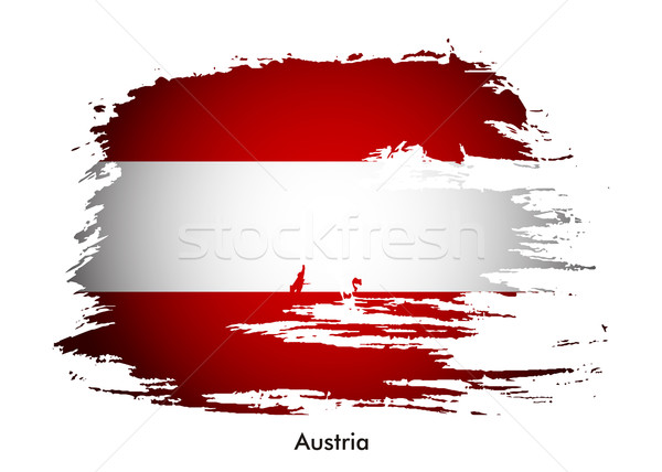 Austria flag  Stock photo © redshinestudio