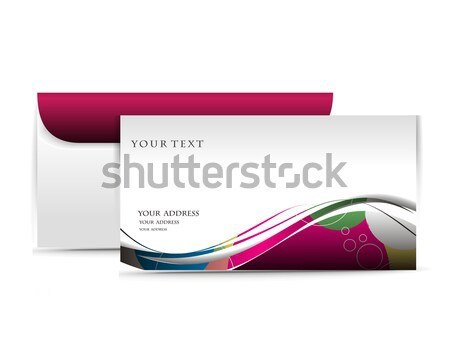 Paper envelope design Stock photo © redshinestudio