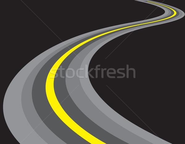 road illustration Stock photo © redshinestudio