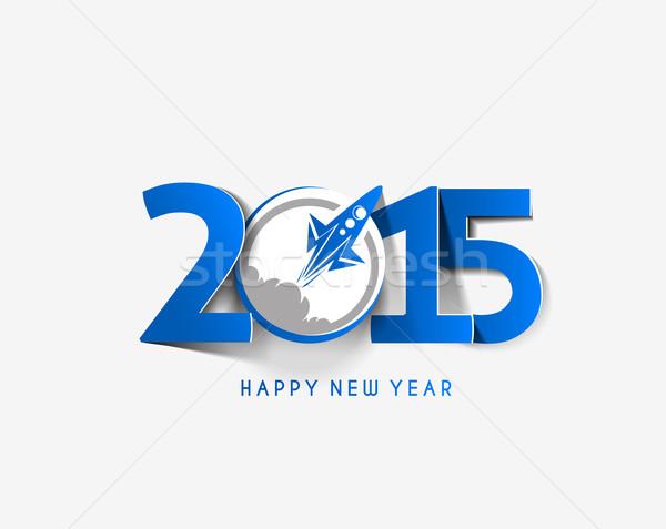 Feliz ano novo 2015 texto projeto negócio abstrato Foto stock © redshinestudio