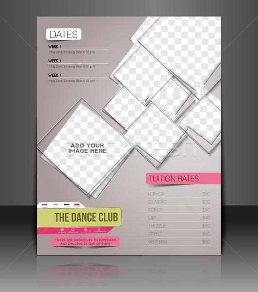 Danse club flyer voiture concurrence Retour Photo stock © redshinestudio