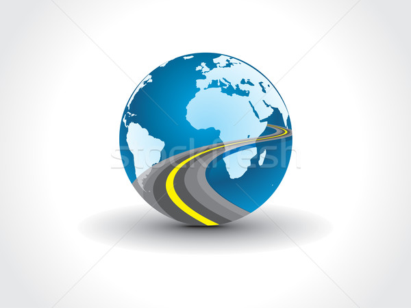 Globo planeta terra mapa estrada terra Foto stock © redshinestudio