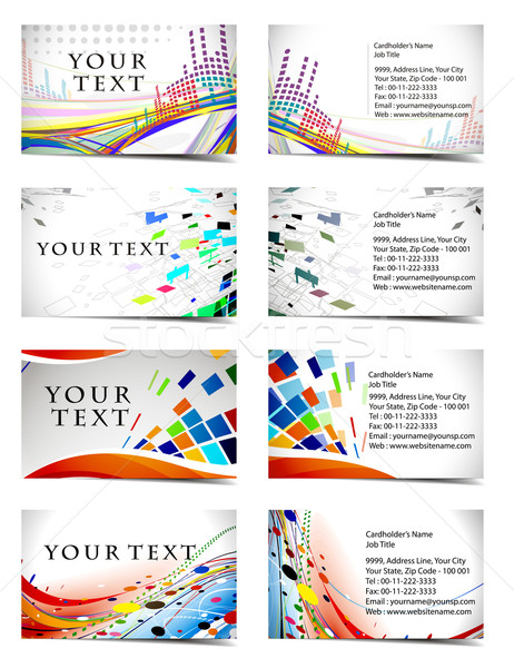 business card set Stock photo © redshinestudio
