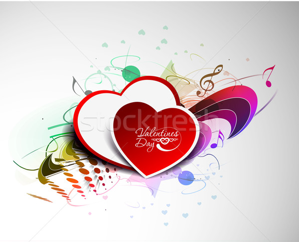 hearts design illustration Stock photo © redshinestudio