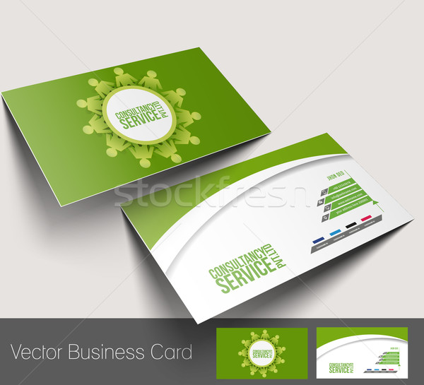 Business Card Set Stock photo © redshinestudio