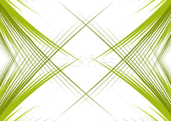 緑 孤立した 白 スペース 雪 ストックフォト © redshinestudio