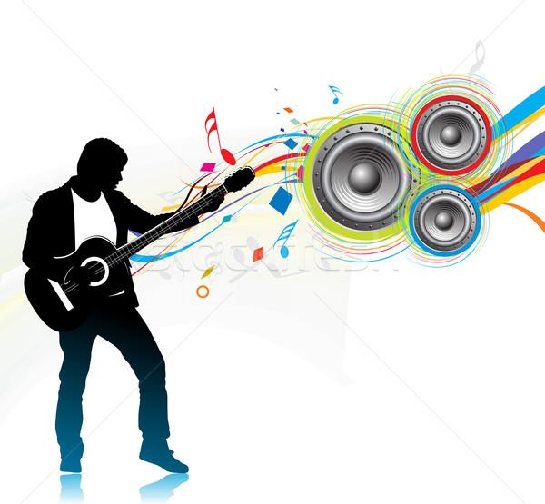 music men play a guitar Stock photo © redshinestudio