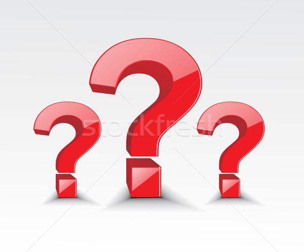 symbol of question mark  Stock photo © redshinestudio