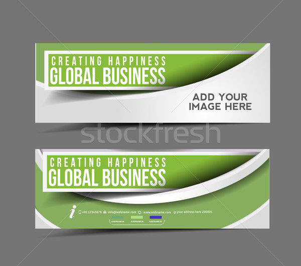 Global Business Design Banner  Stock photo © redshinestudio
