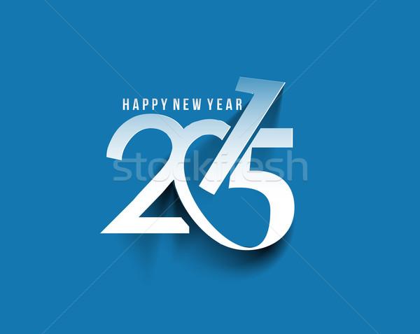 Boldog új évet 2015 szöveg terv üzlet absztrakt Stock fotó © redshinestudio