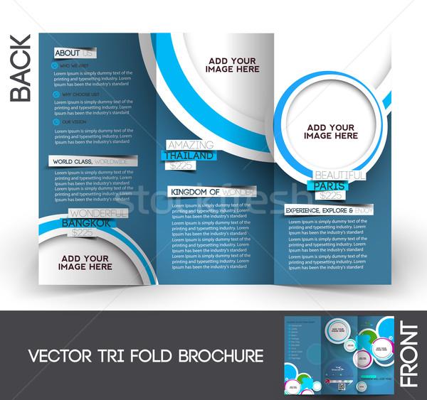 旅行 パンフレット アップ デザイン 平面 企業 ストックフォト © redshinestudio