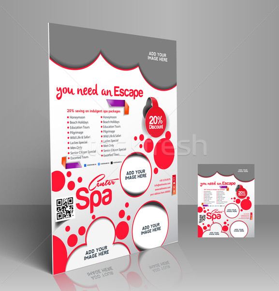 Beauty Salon Flyer Stock photo © redshinestudio