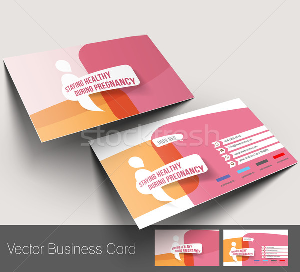 Maternity Hospital Business Card  Stock photo © redshinestudio