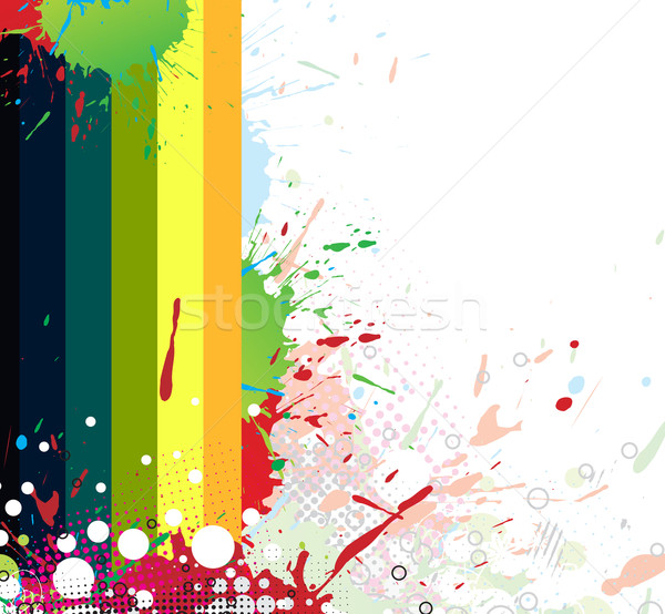 Colourful bright ink splat design  Stock photo © redshinestudio