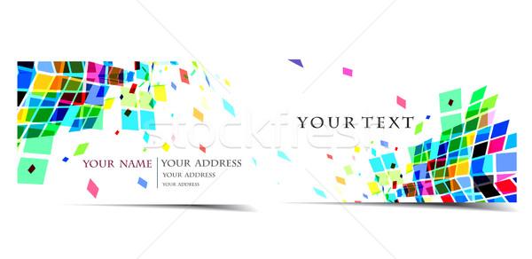 vector business card set Stock photo © redshinestudio