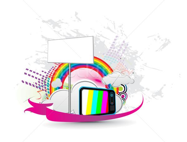 Сток-фото: ретро · телевидение · развлечения · дизайна · СМИ · музыку
