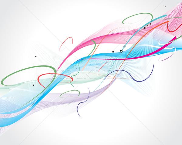 抽象的な 虹 波 行 スペース テクスチャ ストックフォト © redshinestudio
