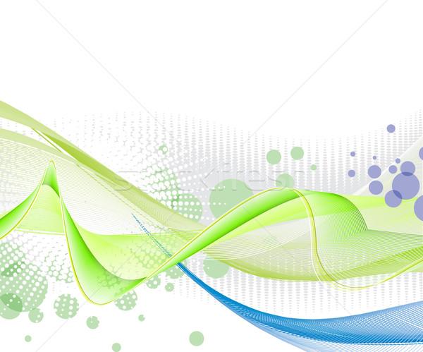 抽象的な 波 行 デザイン オレンジ 緑 ストックフォト © redshinestudio