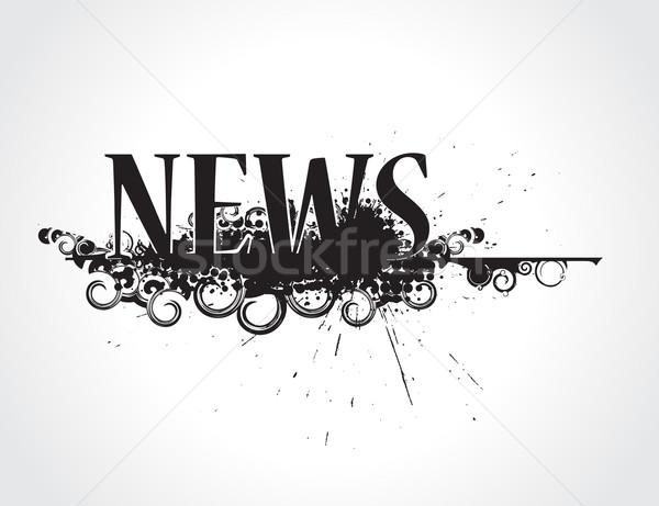 grunge news icon Stock photo © redshinestudio