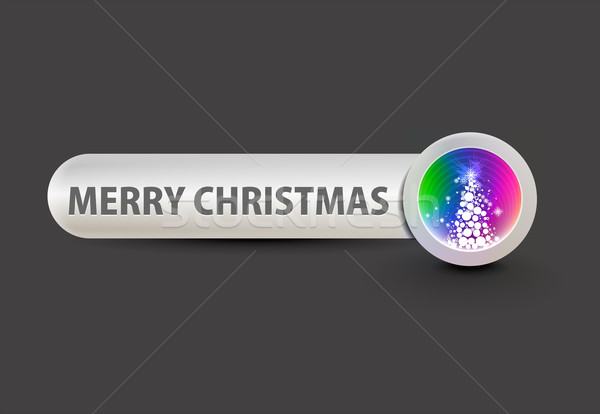 Stock photo: christmas glossy buttons