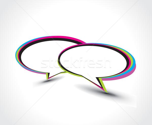 Messenger fenêtre icône isolé blanche internet Photo stock © redshinestudio