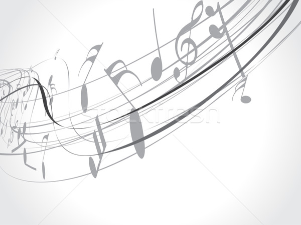 Muziek musical golf lijn muziek merkt abstract Stockfoto © redshinestudio
