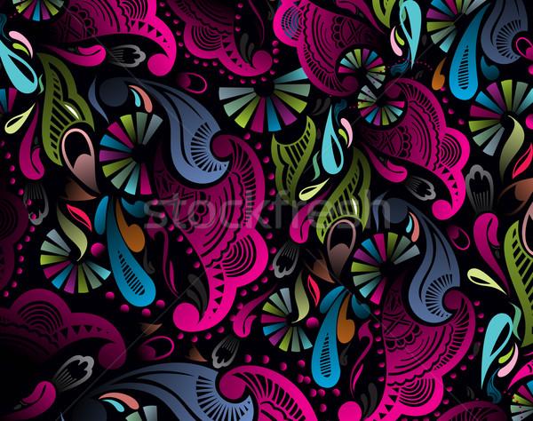 цветочный шаблон аннотация подробный бесшовный Сток-фото © redshinestudio