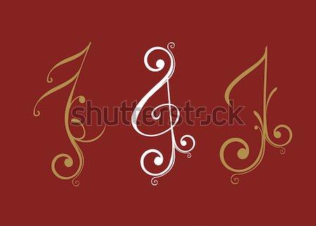 Notas musicales diseno concierto wallpaper sonido nota Foto stock © redshinestudio